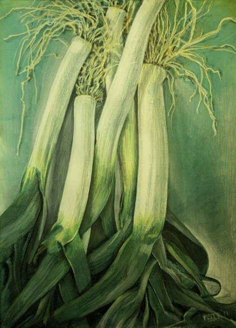 untitled leeks no.2 - sold